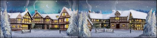 Backdrops: Winter Village 2C Panel