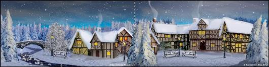 Backdrops: Winter Village 2B Panel