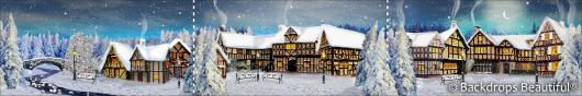 Backdrops: Winter Village 6C Panel