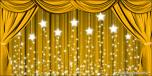 Backdrops: Drapes Gold 2 Stars